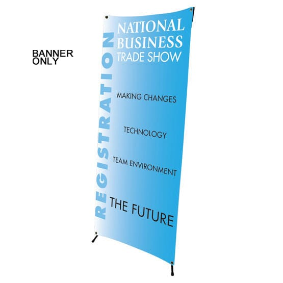 2 1/2 ft x 6 ft Indoor Banner (Replacement Banner)
