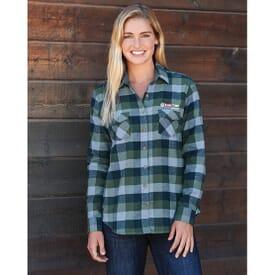 Women's Vintage Flannel Button Down Shirt