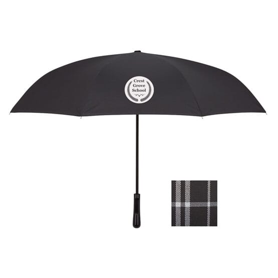 "48"" Plaid-Lined Inverted Arc Umbrella"
