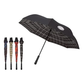 "48"" Plaid-Lined Inverted Arc Umbrella"