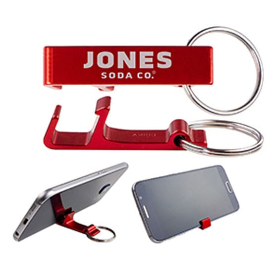 bottle opener and phone stand keychain