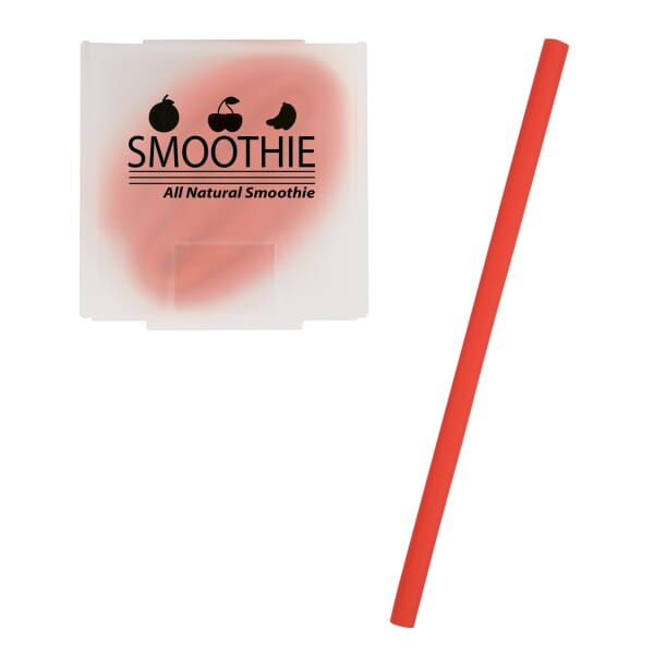 Silicone Straw In Case 122033