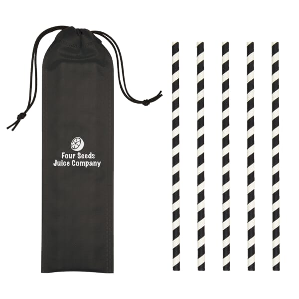 5 Pack Paper Straw in Pouch