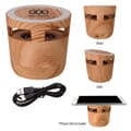 Woodgrain Wireless Charging Pad and Speaker
