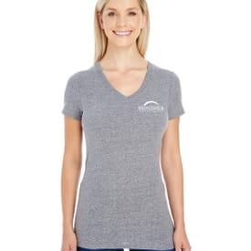 Ladies' Threadfast Apparel Triblend Short-Sleeve V-Neck T-Shirt