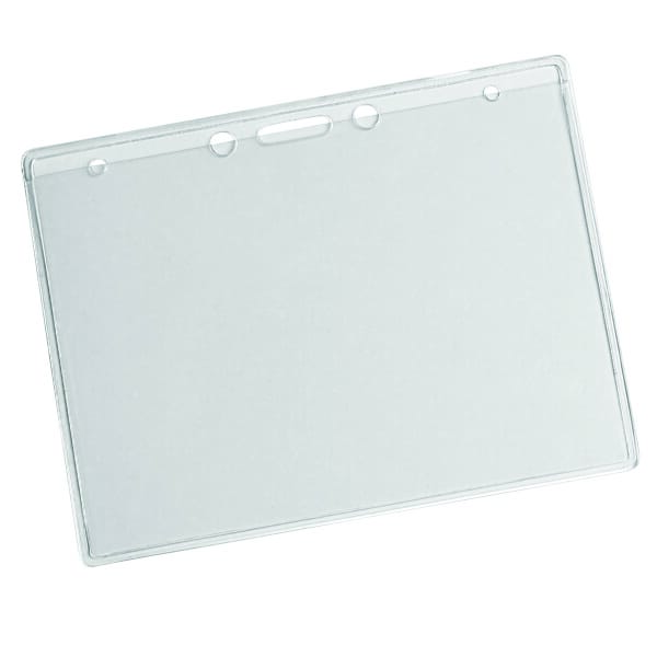Clear Vinyl Badge Holder With Slots 122106