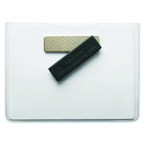 Clear Vinyl Badge Holder with Magnetic Back