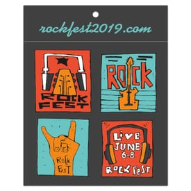 """3 3/4"""" x 3"""" Rectangle - Clothing Hang Tag Sticker"""
