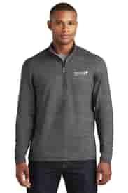 Men's Sport-Tek® Sport-Wick® Stretch Reflective Heather 1/2 Zip