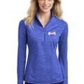 Ladies' Sport-Tek® Sport-Wick® Stretch Reflective Heather 1/2 Zip