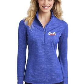 Ladies' Sport-Tek® Sport-Wick® Stretch Reflective Heather 1/2 Zip