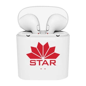 Wireless Earbud Pods with Rechargeable Case
