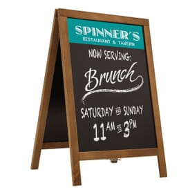 Wooden A-Frame Chalkboard Display