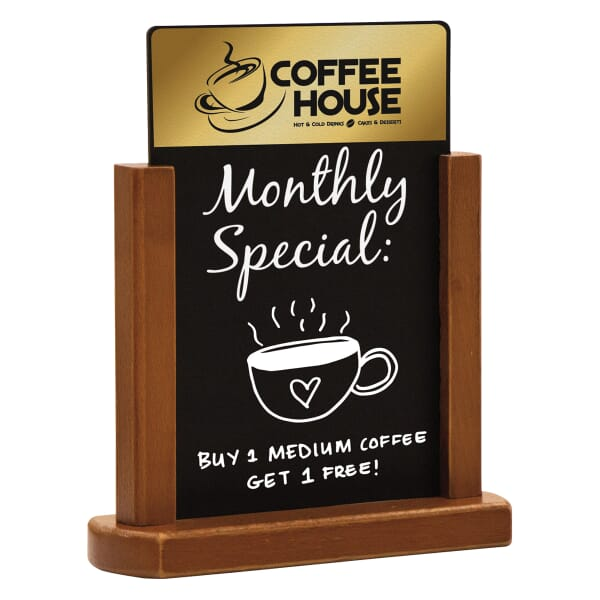 Small Wooden Countertop Chalkboard Display 122204