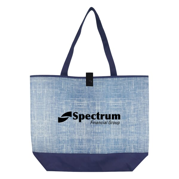 Blue Denim-Look Tote Bag