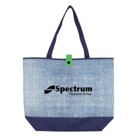 Blue Denim-Look Tote Bag