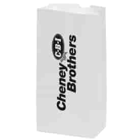 White Kraft 4# SOS Grocery Bag