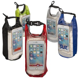 2L Water-Resistant Dry Bag with Mobile Pocket