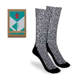 18&#34 Full Color Socks with Trifold Packaging