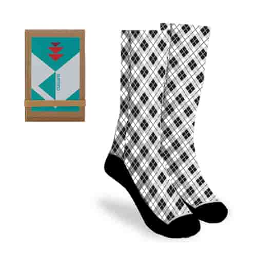 """18"""" Full Color Socks with Trifold Packaging"""