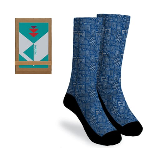 Custom patterned socks