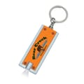 Key chain with light on.