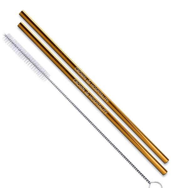 Reusable Stainless Steel Drinking Straws - 2 Pack 122269