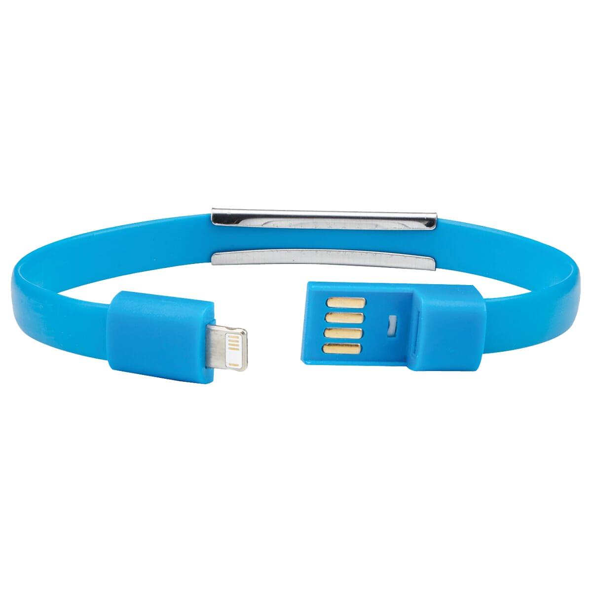 light blue chareging cable bracelet
