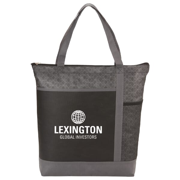 Two-Tone Patterned Convention Tote 122296