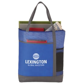 Two-Tone Patterned Convention Tote