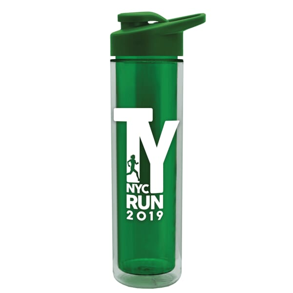 16 oz Insulated Sports Bottle with Drink-Thru Lid