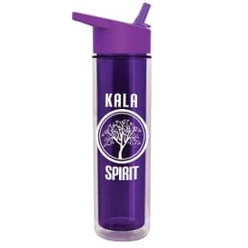 16 oz Insulated Sports Bottle with Flip Straw Lid
