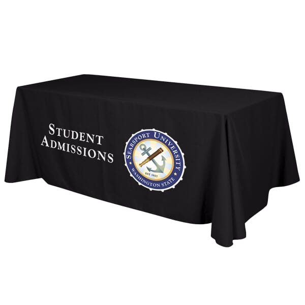 6' Standard Table Throw - Full-Color Front Panel - 24hr Service