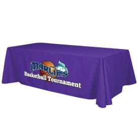 8' Standard Table Throw - Full Color Front Panel - 24hr Service