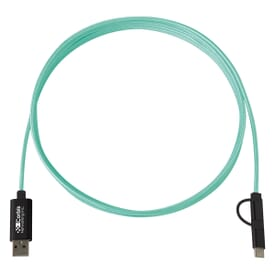 3-in-1 Braided Charging Cable - 10 ft