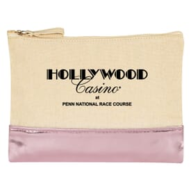 12 oz Cotton Cosmetic Bag With Metallic Accent