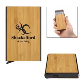 Bamboo RFID Data Blocking Card Holder