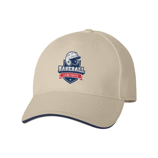 Bayside USA-Made Structured Brushed Twill Cap