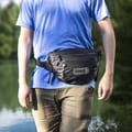Waist pack in use
