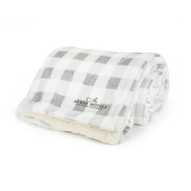 Mink Sherpa Blanket - Plaid