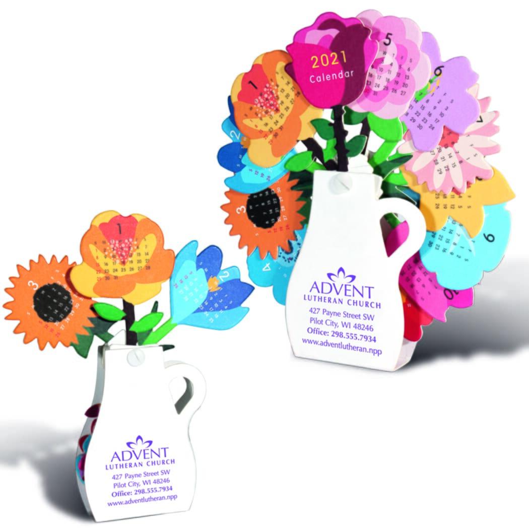 floral popup calendar