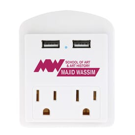 Modern USB Wall Adapter with Phone Holder