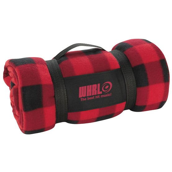 Red and Black Buffalo Plaid Travel Blanket