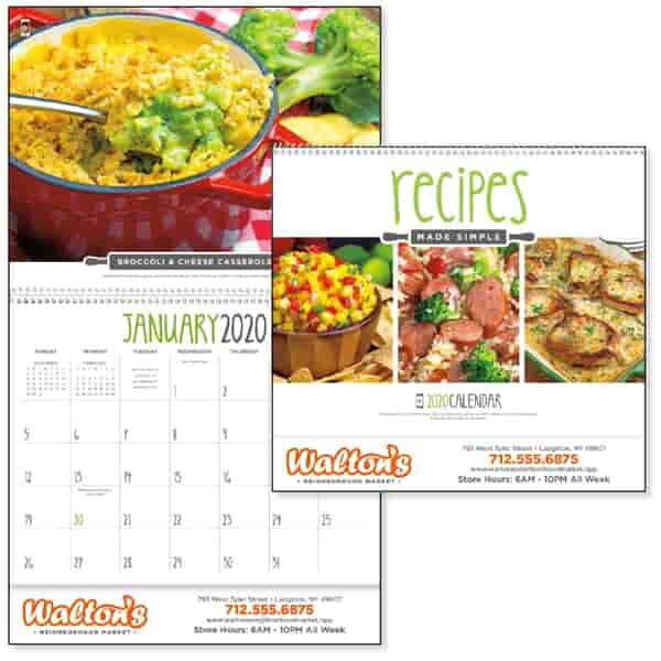 2022 Recipes Made Simple Calendar
