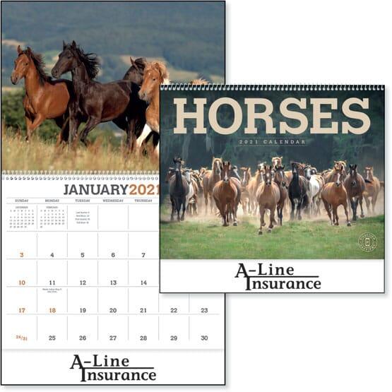 Horse Calendar 2022.2022 Horses Calendar Promotional Giveaway Crestline