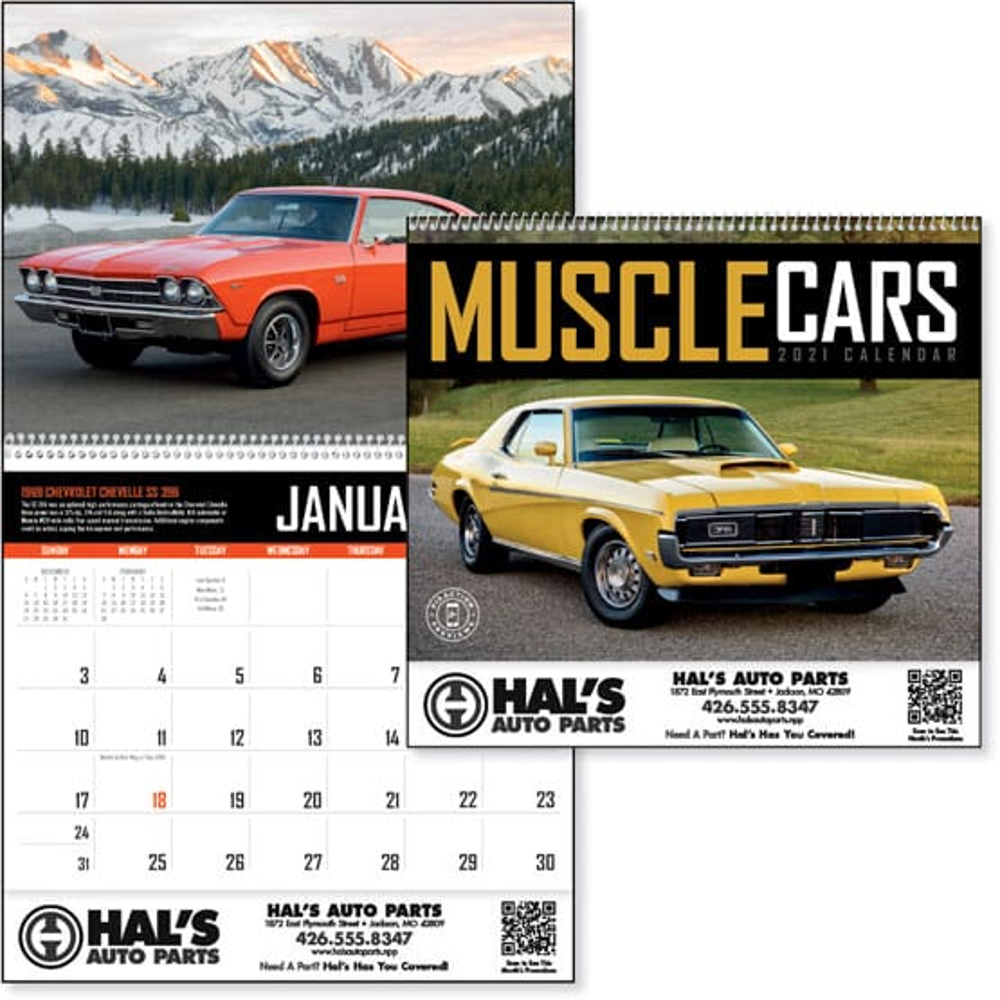 2021 Muscle Cars Calendar   Promotional Giveaway   Crestline