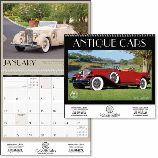 2021 Antique Cars Calendar