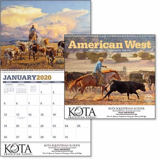 2021 American West by Tim Cox Calendar
