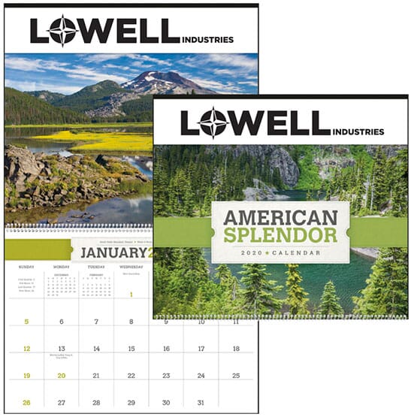"""2020 American Splendor Calendar 14""""W x 12""""H"""