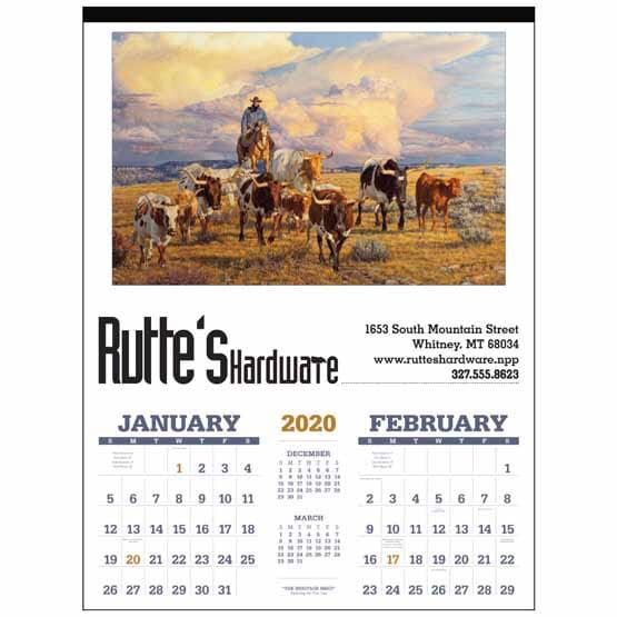 2020 American West by Tim Cox Double Month Calendar